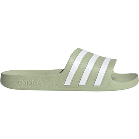adidas Adilette Aqua Slides Women, halo green/footwear white/halo green